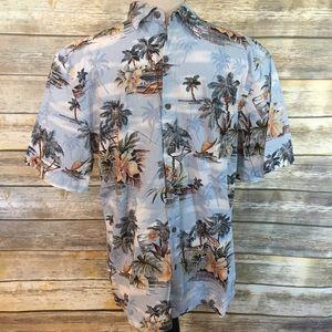 Island Shores Men's Hawaiian Shirt, Size Size